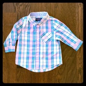 Andy & Evan Spring Plaid Button Down Shirt
